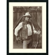 Amanti Art John Wayne Framed Art Print by Bob Willoughby, 32H x 24W