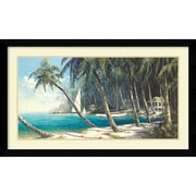 "Amanti Art ""Bali Cove"" Framed Art Print by Art Fronckowiak, 25.63""H x 42.63""W"