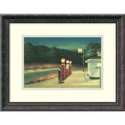 """Amanti Art """"Gas, 1940"""" Framed Art Print by Edward Hopper, 14.5""""H x 18.25""""W"""