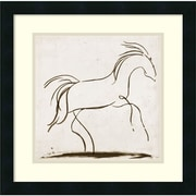 "Amanti Art ""Horse II"" Framed Art Print by Tom Reeves, 18""H x 18""W"