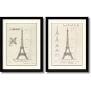 """Amanti Art """"Exposition, Paris 1889 (Eiffel Tower) - Set of 2"""" Framed Art Print by Yves Poinsot, 35.88""""H x 29.13""""W"""