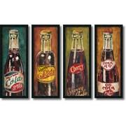 Amanti Art Cola, framed - Set of 4 Framed Art Print by Elisa Raimondi, 41H x 15.5W