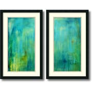 "Amanti Art ""Blue Mountain Rain - Set of 2"" Framed Art Print by Erin Ashley, 31""H x 19""W"