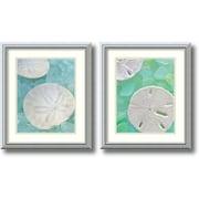 Amanti Art Seaglass 3 & 5 - Set of 2 Framed Art Print by Alan Blaustein, 20H x 17W