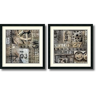 """""Amanti Art """"""""Industrial - Set of 2"""""""" Framed Art Print by Dylan Matthews, 26""""""""H x 26""""""""W"""""" 1388501"