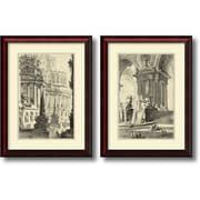 "Amanti Art ""Vintage Roman Ruins III & IV - Set of 2"" Framed Art Print by Giovanni Battista Piranesi, 27.75""H x 21""W"
