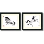 Amanti Art Untrammeled and The Prince - Set of 2 Framed Art Print by Nan Rae, 18H x 21W