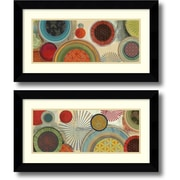 """Amanti Art """"Commotion - Set of 2"""" Framed Art Print by Tom Reeves, 14.63""""H x 26.63""""W"""