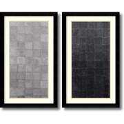 "Amanti Art ""Grey Scales - Set of 2"" Framed Art Print by Renee W. Stramel, 37.63""H x 22.63""W"