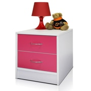 Furinno® 16.3 x 15 Wood Drawer Chest, White & Pink