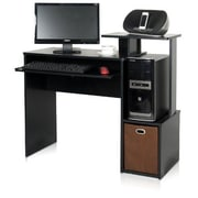 Furinno Econ Standard Home Office Computer Desk, Black (12095BK/BR)