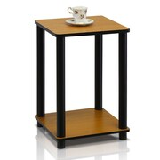 """Furinno® 20"""" x 13.4"""" Rubber & Polyvinyl Chloride End Table Light Cherry & Black"""