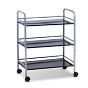 "Furinno® 29.53"" x 23.6"" Metal 3-Tray Rolling Cart"