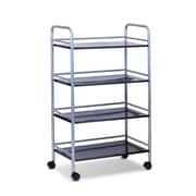 "Furinno® 39.4"" x 23.6"" Metal 4-Tray Rolling Cart"
