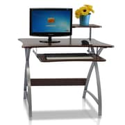 Furinno Besi New Office Computer Desk, Dark Wood Grain (FNBL-22005)