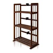 "Furinno® 34"" x 23.8"" Pine Solid Wood 3-Tier Bookshelf"