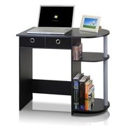 Furinno 31.5'' U-Shaped Polyethylene Transitional Computer Desk, Black/Gray (11193BK/GY/BK)