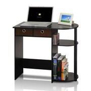 Furinno Go Green Compact Home Computer Desk, Black/Espresso (11193EX/BK/BR)