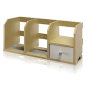 Furinno® Wood Desk Storage Shelf with Bins
