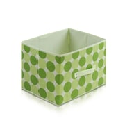 """Furinno® 10.5""""H x 15"""" Non Woven Polypropylene & Paperboard Storage Container, Green"""