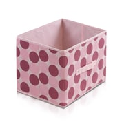 """Furinno® 10.5""""H x 15"""" Non Woven Polypropylene & Paperboard Storage Container, Pink"""