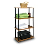 Furinno® Shelf Display Rack, Cherry & Black