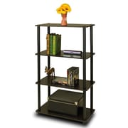 Furinno® Shelf Display Rack, Espresso & Black