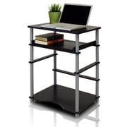 Furinno Compact Home Computer Desk, Black/Gray (10016BK/GY)