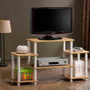 Furinno® 22.8 x 41.5 Rubber Trees & Polyvinyl Chloride TV Stand, Beech & White