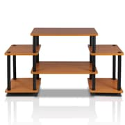Furinno® 22.8 x 41.5 Rubber Trees & Polyvinyl Chloride TV Stand, Light Cherry & Black