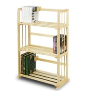 "Furinno® 34"" x 23.8"" Pine Solid Wood Bookshelf"