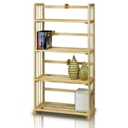 "Furinno® 46.9"" x 23.8"" Pine Solid Wood Bookshelf"