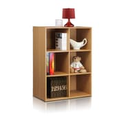 Furinno® 31.5 x 23.6 Wood Kuib No-Tools Contemporary 6-Cube Storage