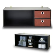 "Furinno® Wall-Mounted Storage/Desk Hutch, 11.73"" H, Wood (10005EX/BR)"
