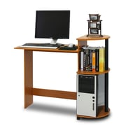 Furinno 39'' Rectangular Wood Transitional Computer Desk, Cherry/Black (11181LC/BK)