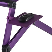 Furinno® Aluminium folding MOUSE Tray Stand, Purple