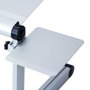 Furinno® Aluminium Folding MOUSE Tray Stand, Silver