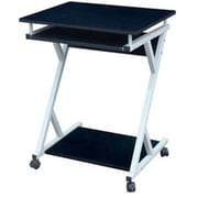 Hodedah HIS828 Modern Wood/Metal Computer Desk, Black