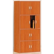 Hodedah HID44 8-Door Wood Storage Cabinets, Cherry