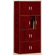 Hodedah 8-Door Wood Storage Cabinet, Mahogany (HID44)