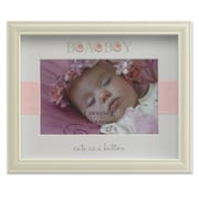 Lawrence Frames 440064 Ivory Resin 6.9 x 8.5 Picture Frame, Pink Button