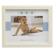 Lawrence Frames 440164 Ivory Resin 6.9 x 8.5 Picture Frame, Blue Button