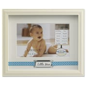 Lawrence Frames 440564 Ivory Resin 6.9 x 8.5 Picture Frame, Blue Polka Dot Ribbon