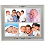 "Lawrence Frames 5057M4 Silver Metal 8.7"" x 6.7"" Picture Frame, Set of 4"