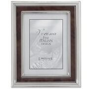 Lawrence Frames 630180 Silver Metal 12.2 x 10.2 Picture Frame, Walnut Burl Panel