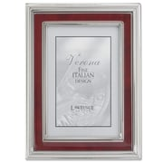 Lawrence Frames 630246 Silver Metal 8.19 x 6.22 Picture Frame, Red Burl Panel