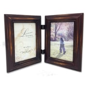 """Lawrence Frames 640146D Weathered Espresso Wood 10.71"""" x 8.46"""" Picture Frame, 6"""" x 4"""" Photo"""