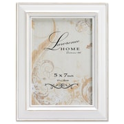 "Lawrence Frames 640257 Weathered White Wood 6.14"" x 4.21"" Picture Frame"