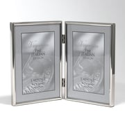 "Lawrence Frames 650046D Simply Silver Metal 6.14"" x 4.21"" Picture Frame"