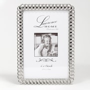 "Lawrence Frames 711046 Silver Metal 6.54"" x 4.57"" Picture Frame"